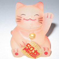 Lucky Cat Happy Business Red or Purple
