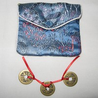 Lucky Fortune Gift with Chinese Silk Brocade Purse