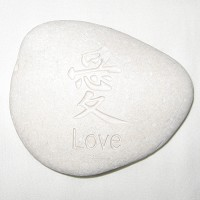 Large Love Word Stone