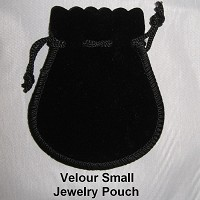 Velour Small Jewelry Pouch